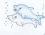 Uzorci veza - Delfin slika dizajn
