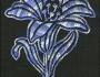 Uzorci veza - Plavi cvet